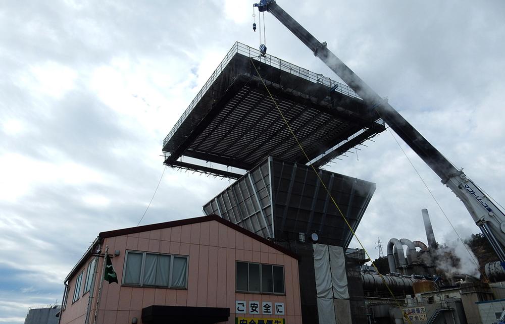 堺港発電所向けグランドフレア機器据付工事